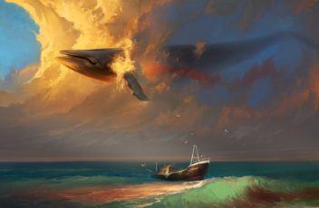 www.GetBg.net_Drawn_wallpapers___Paintings_____Whale_in_the_sky_086566_