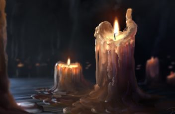 artwork-ArtStation-candles-burning-wax-1541177
